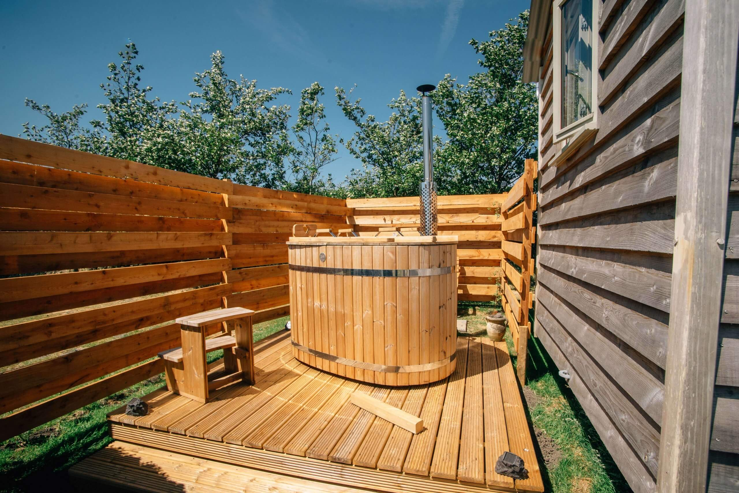 Meadow Hut Hot Tub